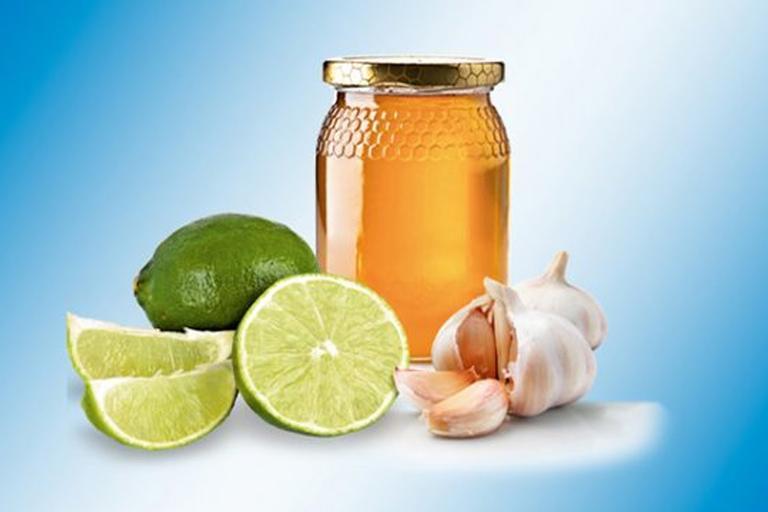 mel, alho e limão