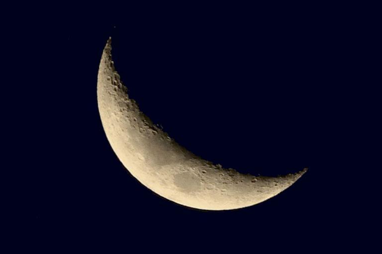 Foto da Lua Crescente