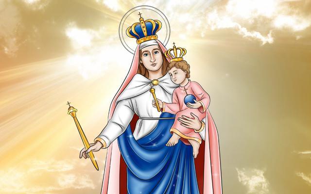 ilustração de Nossa Senhora da Penha