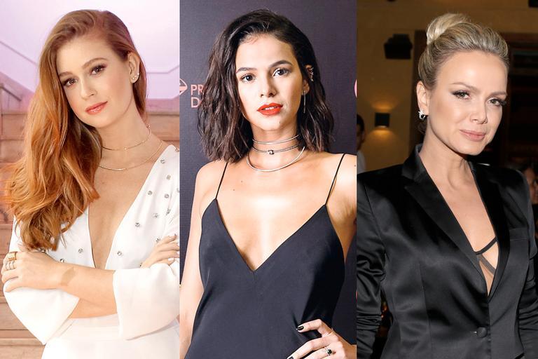 Foto das famosas Marina Ruy Barbosa, Bruna Marquezine e Eliana para falar sobre as dicas de beleza dos signos das famosas