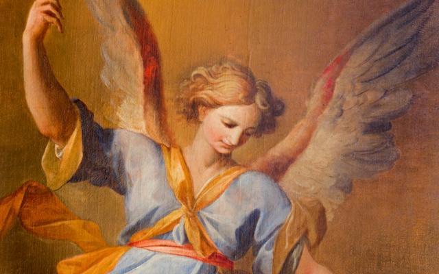 Imagem de anjo da guarda vindo dos céus para os anjos livraram da morte