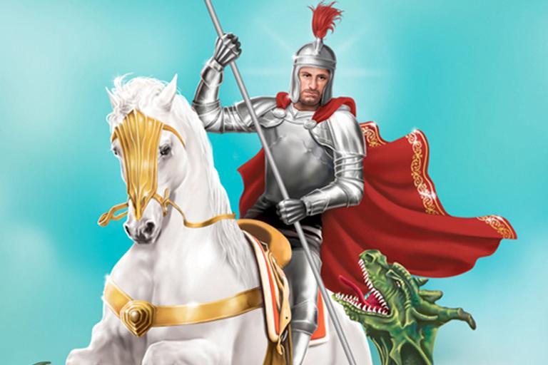 Dia de São Jorge, o santo guerreiro montado em um cavalo