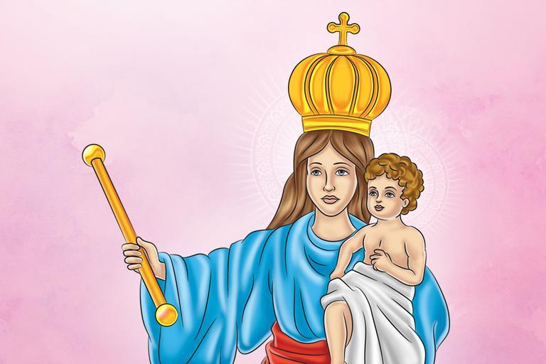 ilustração de Nossa Senhora dos Prazeres