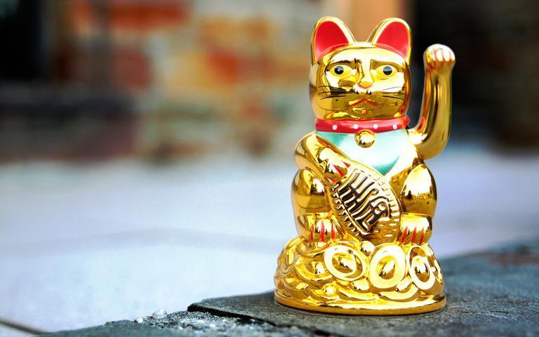 O Gato da Sorte é um amuleto muito famoso no Japão