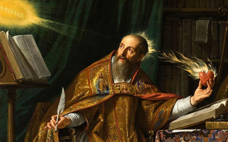 Confie no poder divino de Santo Agostinho