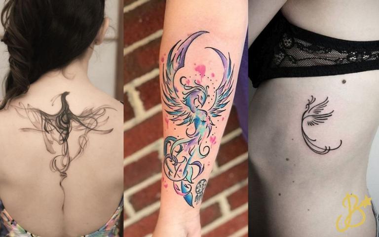 Confira as tatuagens de fênix
